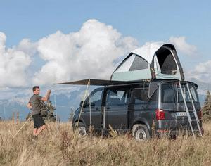 Avis et test sur la tente de toit pour utilitaire Quechua 500 Fresh & Black