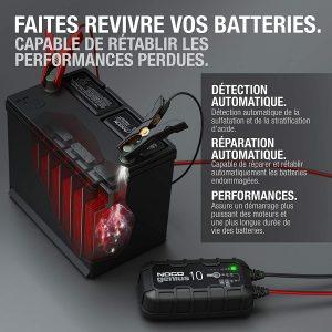 recharger une batterie de voiture